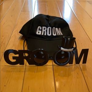 Groom Hat and Glasses